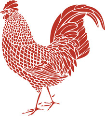 Rooster monochrome