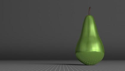Green glossy pear