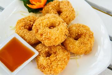 Thailand shrimp fried food