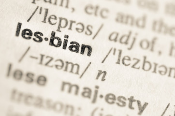 Dictionary definition of word lesbian