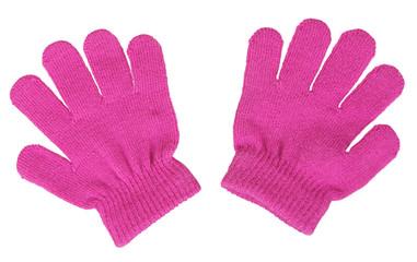 Pink baby mittens