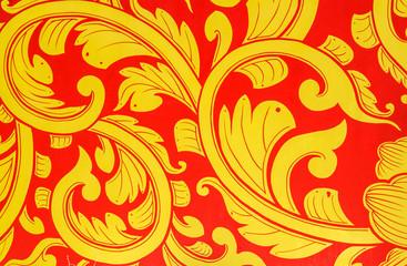 Golden lotus pattern