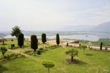 Pari Mahal Mughal garden with Dal lake, Srinagar, Kashmir