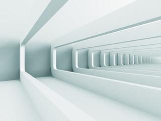 White Abstract Futuristic Corridor Architecture Background