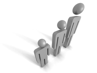 Concept Team Group Of Business People Icons. Teamwork