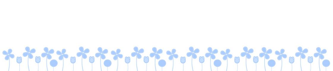 blumen wiese blau band banner
