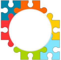 kreis offen puzzle flat
