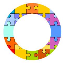 puzzle kreis bunt flat