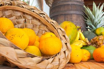 panier de fruits tropicaux exotiques