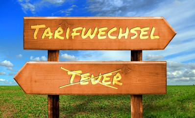 Strassenschild 33 - Tarifwechsel