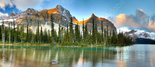 Leinwanddruck Bild Bow Lake
