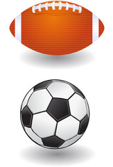 American and Soccer Ball vector image