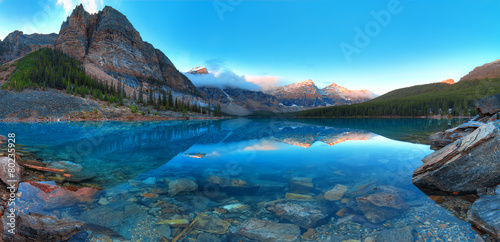 Moraine lake panorama - 80235928