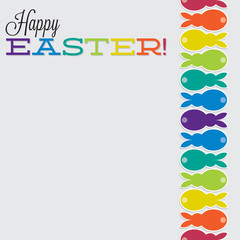Bright retro Happy Easter card in vector format.