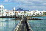 sea view at Castle of San Gabriel and Arrrecife, Lanzarote, Cana