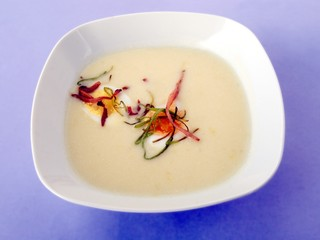 horseradish cream soup with boilled egg