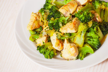 chicken fillet with broccoli