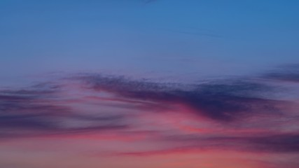 Clouds at sunset. Timelapse. 4K. 4096x2304.