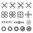 Set of aerial drone footage emblems and icons - 80238565