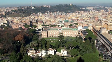 Vatican Museums & Vatican Gardens from the Dome of St. Peter's