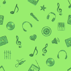 Vector Music Pattern Background