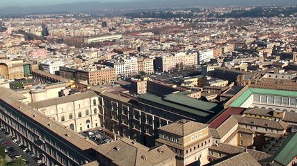 Apostolic palace and  Vatican Museums from the St. Peter's