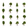 Vector tree icon set