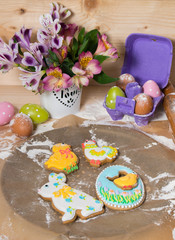 Easter cookies on the eve of the holiday
