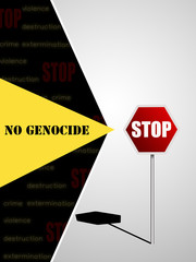 No genocide, stop . Poster 60x80