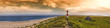 Leinwanddruck Bild - Panorama am Ellenbogen Sylt Abendrot