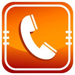 Phone icon on orange button