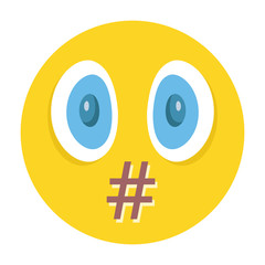 Vector smiley. Moderation, censorship or swear words concept