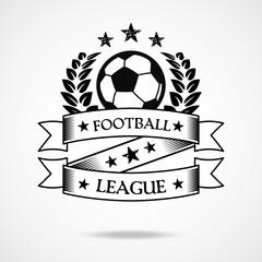 Vintage football badge