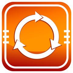 A colourful orange process circular arrow illustration
