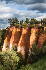 Ochre guarry in Roussillon, France