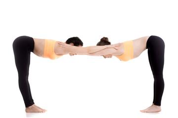 Yoga with partner, Ardha Uttanasana pose