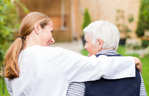 Leinwanddruck Bild Elderly care