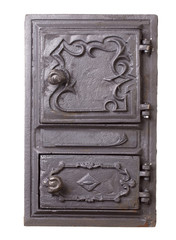 Cast iron door for furnaces.