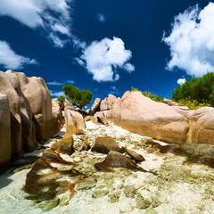 Beautiful beach at Seychelles