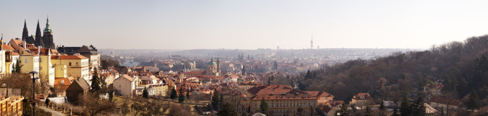 Panorama of Prague, Czech Republic