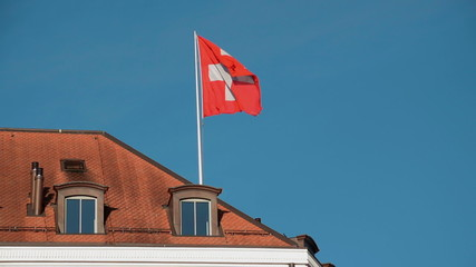 Swiss flag in slow motion. Find similar clips in our portfolio.
