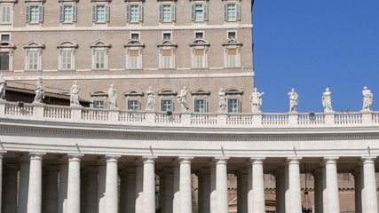 Colonnade in the square. Vatican City, Rome, Italy