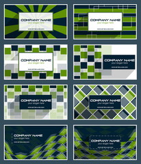 Collection of business card template or visiting card set