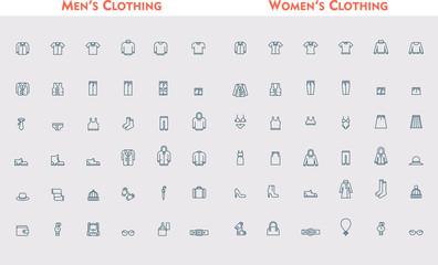 Big linear clothes set