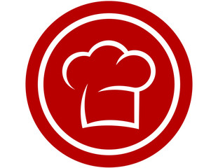 round icon with chef hat