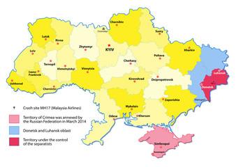 ukraine map. events 2014-2015