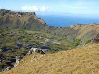 Volcán Rano Kau de isla de Pascua 4