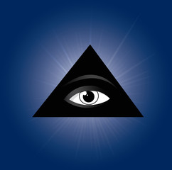 All seeing eye of providence. Masonic symbol