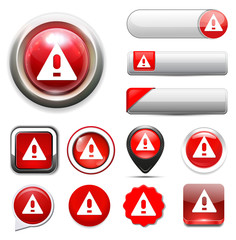 Exclamation danger sign icon