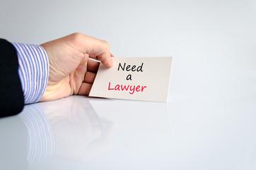 Neew a lawyer
